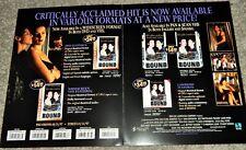 Bound (1997; 2-Panel Video Dealer Brochure) Rare Collectible, Gina Gershon,Tilly