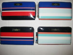 Kate Spade New York Daycation Neda Zip Around Wallet Clutch Multi Party Stripe