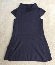 Ibex Merino Kurta Sweater Tunic, Cap Sleeves, Thigh Length, Dark Brown, Xs