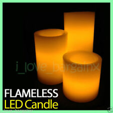 1 Set of LED Candles Battery Operated Flickering Pillar Flameless Unscented Wax
