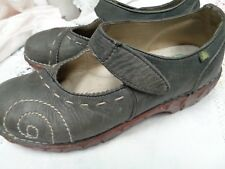 EL NATURALISTA Yggdrasil Mary Jane Shoes~gray~size 38 7 7.5 made in Spain