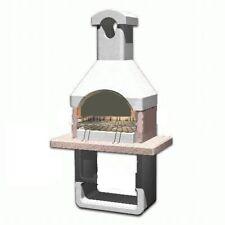 barbecue in muratura mod colonia cm 88x58x197 h a carbonella giardino forno