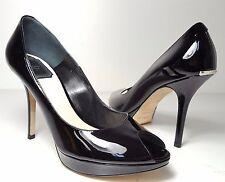 6d81f46f6638  710 size 39.5 US 8.5 Christian Dior Miss Dior Black Peep Toe Heel Pumps  Shoes