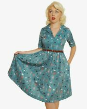 Lindy bop dress dogs Bletchley rare bnwt green vintage Rockabilly style size 10