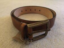 Leather Belt Tan J Shoes RRP £55 Size 32
