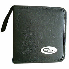 48 Sleeve CD DVD Blu Ray Disc Carry Case Holder Bag Wallet Storage Leather - Neo