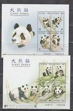 Guyana 1998 wild animals mammals panda 2 klb Mnh