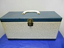 VINTAGE 45 RPM D R 100 STORAGE BOX WITH 100 TABS & 2 INDEXES