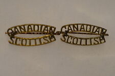 WW2 Canadian Scottish Shoulder Titles Badges Pair
