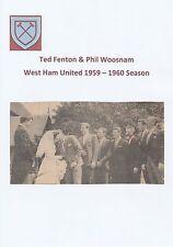 TED FENTON & PHIL WOOSNAM WEST HAM UNITED RARE ORIGINAL SIGNED NEWSPAPER CUTTING