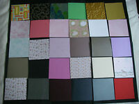 JOB LOT SPECIALIST DESIGNER Card Paper Pack 30 Sheets 6x6 NEW Mixed Colours FREE