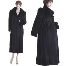 On Sale! Elegant & Tasteful Black Mahogany Female Mink Fur 50 in. F/L Coat