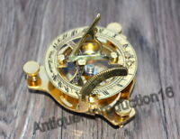 "Brass 3/"" Sundial Compass Maritime Vintage West London Polish Finish Good Gift"