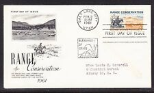 """USA """"Artcraft"""" 1961 Range Conservation First Day Cover with cachet Addressed"""