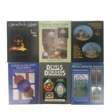 Lot of 6 Stained Glass Instruction Books Lamps Bevels Borders Miniature Village