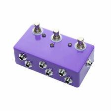 Handmade Looper-Guitar 3 Loop Pedal switch Board-True Bypass Channel Purple