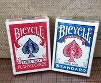2 Decks of Bicycle Playing Cards - Standard Face (Blue) & Rider Back (Red) - NEW