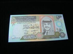Jordan 1995 20 Dinars Banknote Gem Unc. Pick#32a