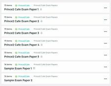 10 Prince2 Foundation Exam/Practice Papers/ Mock Tests/ Learn Through Questions