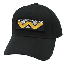 Alien Sci-Fi Movie Weyland-Yutani Corp Patched Baseball Snapback Black Cap Hat