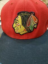 NHL Mitchell & Ness Chicago Blackhawks  Red Vintage Hockey Snapback Cap Hat