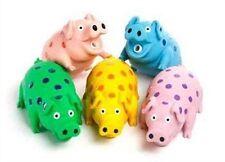 Multipet International Globlets Pig Dog Toy Latex Assorted Colors