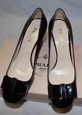 AUTHENTIC! $650 PRADA VERNICE BI-COLOR  AMARENA PUMP 39.5/ 9.5 US