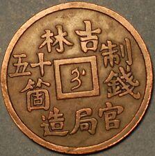 50 Cash 1901 Kirin Province Kuang-hsu Yuan-Pao Mintmark Manchu (Chi) China