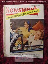NEWSWEEK April 5 1954 Apr 4/5/54 SPRING-SUMMER TRAVEL THE BOMB
