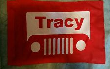 Custom JEEP WITH NAME Safety Flag 4 offroad jeep ATV Bike Dune Whip Pole