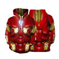 New Film Avengers 4 Endgame Iron Man Hoodie Sweatshirt Pullovers Streetwear Coat