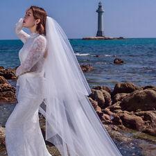 New 3m Bridal long Veil 2 T Cathedral  Wedding veil cut Edge veil with Comb
