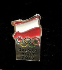 BUENOS AIRES 2018 YOG Olympic Games Poland NOC  Team Rare Flag  Pin