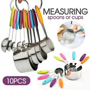 measuring spoons cups 10PCS stainless steel baking teaspoon kitchen gadget kit