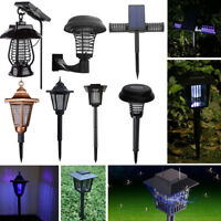 Solar Power LED Light Mosquito Fly Pest Bug Insect Zapper Killer Trap Lamp Lawn
