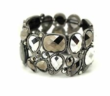 Style and Co Silver Tone Stretch Cuff Bracelet