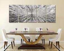Extra Large Contemporary Silver Abstract Metal Wall Art Sculpture - Jon Allen