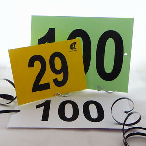 Competitor Competition Numbers Number Cards Sporting Equestrian Holes & Ties