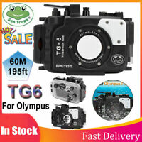 Seafrogs 60M/195ft Camera Housing Case For Olympus TG6 Mirrorless Camera AL