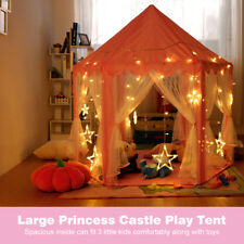 Children Girls Play Tent Princess Castle House Portable Fairy Toy Fun In/Outdoor