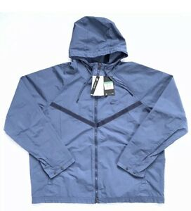 Nike Windrunner Men's Hooded Jacket Blue/Grey Loose Fit CJ4299-432 Size XL