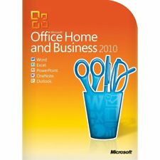 Microsoft Office Home and Business 2010 SP2 DVD + Genuine Product Key & COA