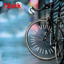 72 Stk.Speichenreflektoren Reflektor für 1 Fahrrad 3M Scotchlite Reflexmaterial