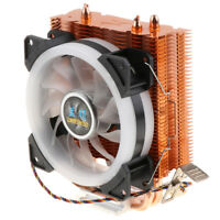 4Pin Cooling System CPU Cooler 120mm LED Fan 5-Color