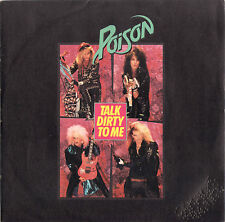 POISON talk dirty to me / want some need some 45RPM 1986 Italy PROMO DH
