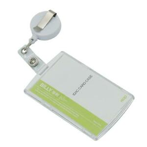 Vertical & Horizontal ID card holder Badge with Reels Clips Retractable office
