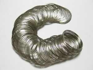 Silver Tone ab.200 Memory Beading Wire Loops 40mm Kids Beacelet Jewelry Making