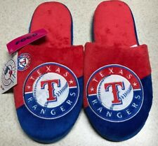 Texas Rangers Slippers Team Logo by Forever Collectibles Men's Size 11-12