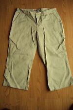 Womens Aeropostale Tan Khaki Beige Cotton Capri Cropped Chino Pants Size 3-4