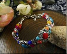 Fashion Jewelry beautiful Tibet silver turquoise bracelet